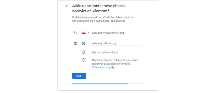 Zakładanie Google Moja Firma krok 5