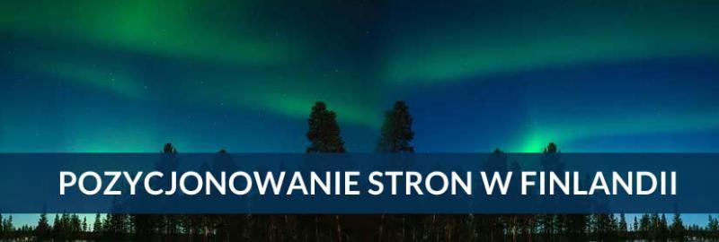 Pozycjonowanie stron i sklepów internetowych Finlandia