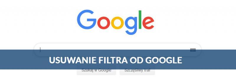 Usuwanie filtra lub bana od Google